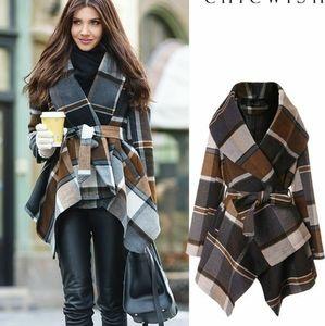 Praire Chec Wrap Jacket size Small